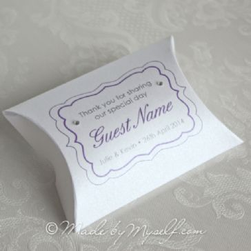 Fancy Frame Pillow Box Favour - supplied empty ready to be filled